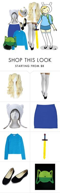 """""""My friend's Fiona cosplay!!!"""" by xx-prince-gumball-xx ❤ liked on Polyvore featuring Boohoo, Carven and CuteCosplays"""
