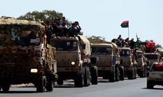 The Libyan government military Balzntan massing troops in preparation for battle of Tripoli