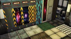 22 walls Spaceship styles, recolors. TS4 Walls I... | Inside Mandarina's Sim World