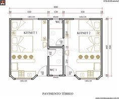 Studio Apartment Floor Plans, 3d House Plans, Duplex Plans, Planer, Loft, Cottage, Construction, House Design, Cabin