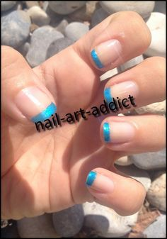 Nail Art : French Manucure Colorée http://nail-art-addict.blogspot.fr/2015/01/nail-art-french-manucure-coloree.html