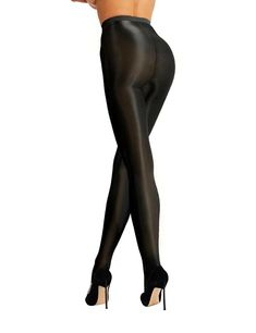 31d7c33d9 Women Compression Shiny Pantyhose Tights High Hold Up Hosiery Socks  Stockings US  Ad