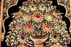 Zardosi embroidery on blouses