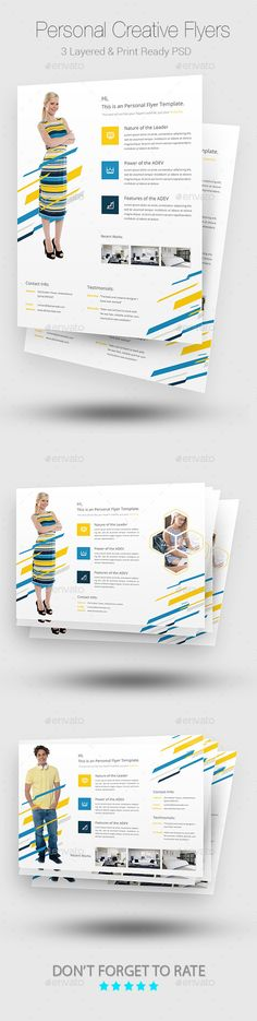 Creative Personal Flyer Templates