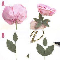 Como fazer Rosas em feltro passo a passo - Ver e Fazer