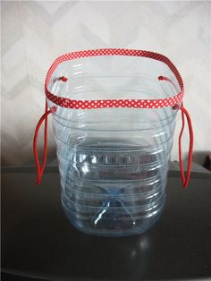 from recycled plastic bottles