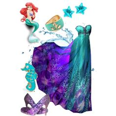 Ariel...HOLY CRAP! That dress is similar to my prom dress O.o