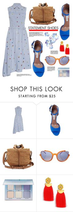 """""""Double Take: Statement Shoes"""" by hamaly ❤ liked on Polyvore featuring SUNO New York, Khokho, Anastasia Beverly Hills, Lizzie Fortunato, outfit, ootd and statementshoes"""