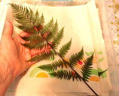 Preserving Botanicals - Easy method to preserve ferns and leaves for future printmaking