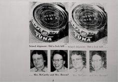 Andy Warhol, Mrs. McCarthy and Mrs. Brown (Tunafish Disaster), 1963