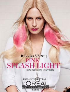 Pink Splashlight indossato da Poppy Delevigne per L'Oréal Professionnel. Scoprilo nei saloni specializzati http://lorealprofessionnel.it/salon-locator    #ITLooks #pink #splashlight #lorealprofessionnel