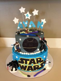 Cake Effect: Star Wars Cake. What a fun way to celebrate a boys birthday than with a Star Wars cake. Even has a death star.