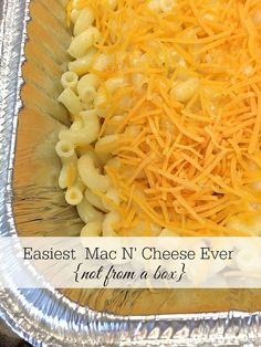 """The easiest {not from a box} homemade Macaroni and Cheese recipe. Kid-friendly and perfect for a """"new baby"""" meal for a friend with children!"""