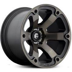 Fuel D564 Beast Wheels Matte Black & Machined