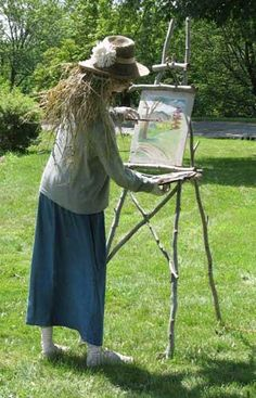 Unique funny and creative diy scarecrow ideas for your garden, outdoor front yard easy to make Scarecrow Festival, Diy Scarecrow, Scarecrows For Garden, Fall Scarecrows, Outdoor Projects, Garden Projects, Mosaic Garden Art, Garden Angels, Garden Furniture