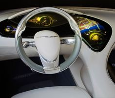 Chrysler 200C Dashboard, futuristic car interior, future car