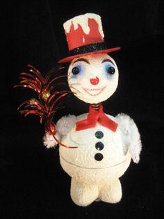Handmade Vintage Replica Bobble Head Snowman by ToysOfYesteryear, $42.00