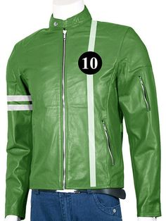 """""""The Ben 10 Best Leather Jacket is here at LJ Showroom USA! You would love the texture and the smooth finish of the jacket as we have it upto the standards. Ben 10 being the super hit animated series"""