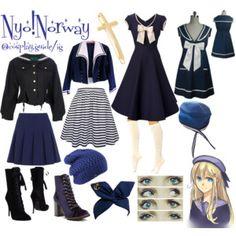 Nyo!Norway fem Norway hetalia cosplay outfit