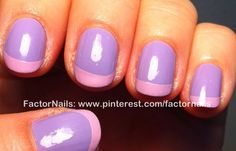 Lilac and light pink french