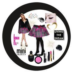 """miniskirt"" by allefale ❤ liked on Polyvore featuring Stila, Dot & Bo, KAROLINA, GUESS, Chanel, ASOS, Armani Beauty, Lancôme, Alexander McQueen and MINISKIRT"