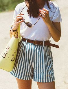 Try Out Roomy High Waist Shorts - Summer Roadtrip Outfit Ideas To Try - Photos #clothes