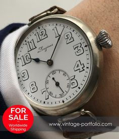 Stunning Longines Military Watch from WW1 WK1 - not a pocket watch