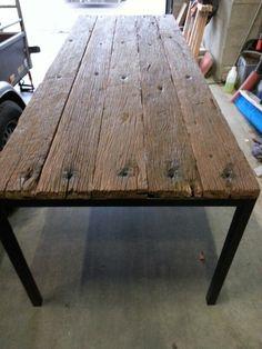 Oud eiken tafel gemaakt van wagonplanken huis pinterest wood wood pallets and salons - Tafel josephine wereldje van het huis ...