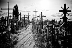 Hill of Crosses    Picture was taken on the Hill of Crosses, near the city of Šiauliai, in northern Lithuania. Photo by Dmitri Korobtsov