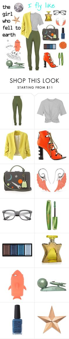 """Untitled #667"" by miss-shan-nicole ❤ liked on Polyvore featuring Balmain, T By Alexander Wang, Kat Maconie, Mark Cross, Noor Fares, Rimmel, Clé de Peau Beauté, Illamasqua, Bond No. 9 and STELLA McCARTNEY"