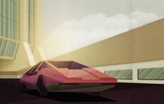 Retro Futuristic Artowrk in Illustrator and Photoshop