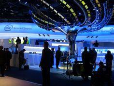 Intel Booth #exhibitdesign #tradeshow #audiovisual