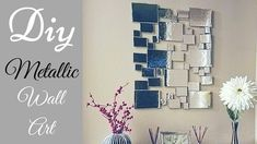 Diy Abstract Metallic Wall Decor Simple And Inexpensive Wall Decorating  Idea.