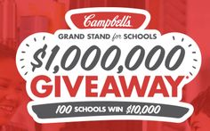 Win $10,000 cash for 100 schools on Campbell's - Grand Stand for Schools…