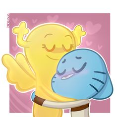 A quick thing for TAWOG Positivity Week Day Fav Ship/OCs/Spring I love so many ships in this show, but if I had to choose one it would be them. Cartoon Wallpaper, Disney Wallpaper, Cool Wallpaper, Amazing Gumball, Cartoon Crossovers, World Of Gumball, Animation Series, Darwin, Pictures To Draw
