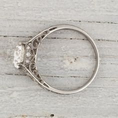The side-detailing on this ring is beautiful. I love that there are tiny stones there.