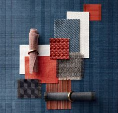 A moodboard is always an inspiration to interior design! Interior Design Boards, Moodboard Interior Design, Fabric Board, Material Board, Mood And Tone, Design Palette, 3d Texture, Textiles, Blue Color Schemes