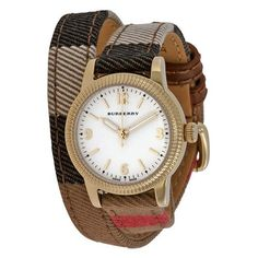 Burberry the utilitarian BU7851 Check Fabric Leather Double Wrap Watch