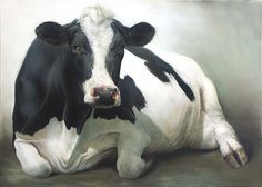 Miss September the Cow, oil/canvas 24 x 32 inch x 80 cm) © 2009 Klimas Cow Photos, Cow Pictures, Farm Animals, Animals And Pets, Sweet Cow, Holstein Cows, Cow Face, Cow Painting, Cow Print