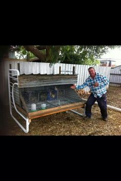 Double bunks into a chicken coop...pic sourced from dirtgirlworld FB page.