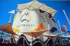 Pabellón de Australia. Expo 92 Fair Games, World's Fair, Pavilion, Garden Art, Australia, Fun, Sevilla, Sustainable Tourism, Antigua