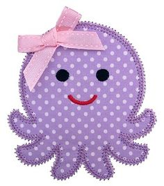 Octopus Applique Matches the Octopus Felt Stitchie