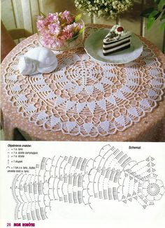 It is a website for handmade creations,with free patterns for croshet and knitting , in many techniques & designs. Crochet Tablecloth Pattern, Crochet Doily Diagram, Crochet Square Patterns, Crochet Chart, Crochet Motif, Crochet Doilies, Crochet Flowers, Fillet Crochet, Crochet Home
