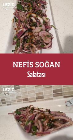 Nefis Soğan Salatası Turkish Salad, Gluten Free Recipes, Vegan Recipes, Appetizer Salads, Turkish Recipes, Vegetable Recipes, Salad Recipes, Brunch, Food And Drink
