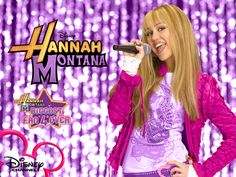 Hannah Montana Season 2 Purple Background wallpaper as a part of ...