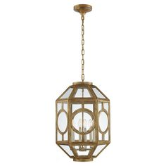 Chatsworth Lantern in Gilded Iron