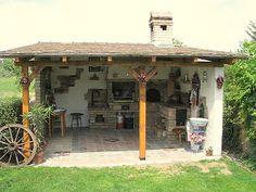 Enteriőr: Nyári konyha a kertben