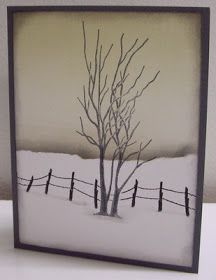 Stamping with Loll: Lone Winter Tree