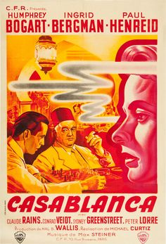 Casablanca;artist: Pierre Pigeot (via La Grande Illusion: Vintage French Movie Posters - 50 Watts)
