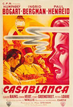 Casablanca;artist: Pierre Pigeot (via La Grande Illusion: Vintage French Movie Posters - 50 Watts)